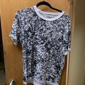 American rag in side outside tee shirt